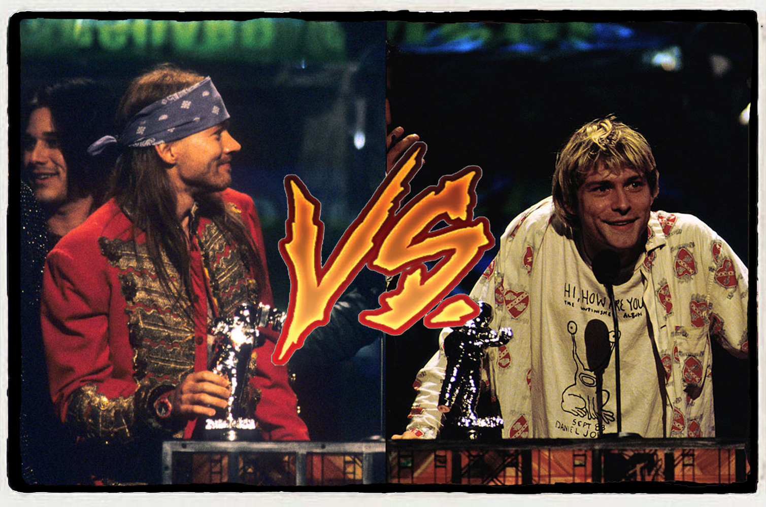 Kurt Cobain vs Axl Rose