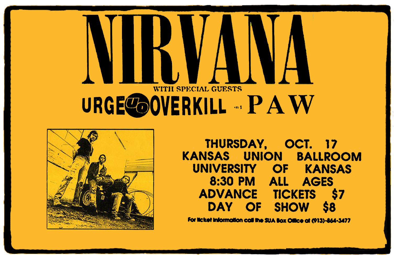 Nirvana no Kansas Union Ballroom – 17 de Outubro de 1991