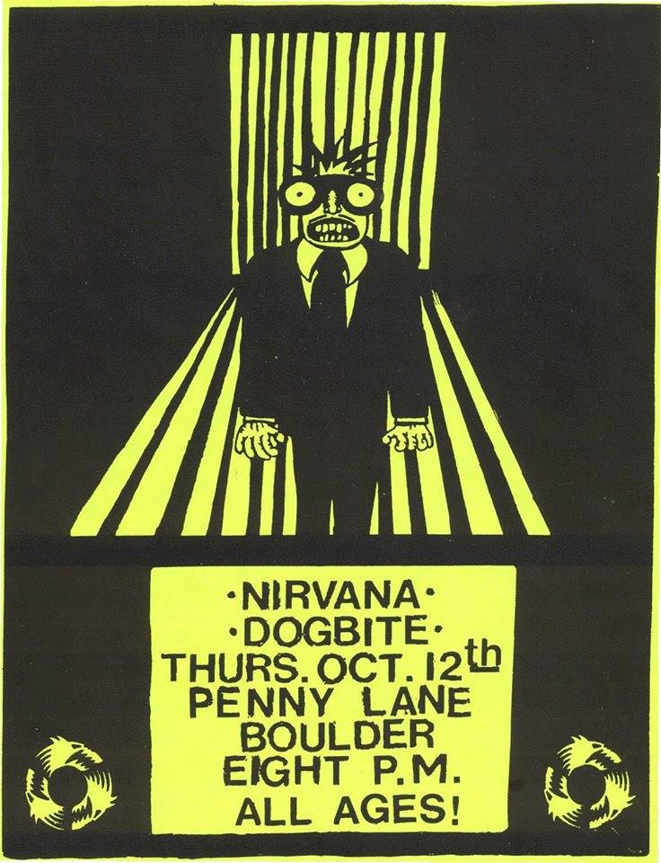 Nirvana no Penny Lane Coffeehouse - flyer