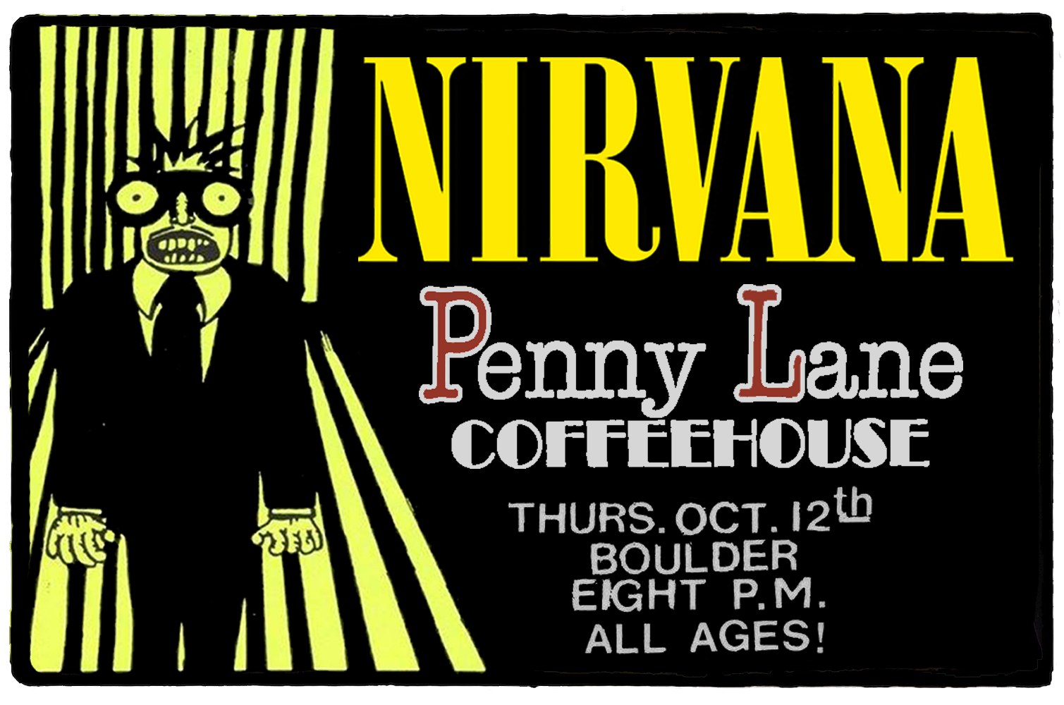 Nirvana no Penny Lane Coffeehouse – 12 de Outubro de 1989
