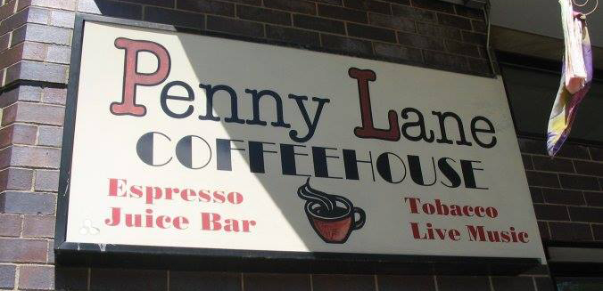 Nirvana no Penny Lane Coffeehouse - local